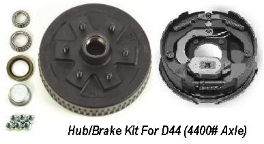 "D44 Hub Kit 10"" Brake with 6 on 5.5"" Bolt Pattern "" SPECIAL ORDER 8-10 DAY"""