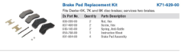 Disc Brake Pad Replacement Kit for 6K & 8K
