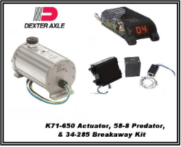 Dexter1000 PSI (Drum) K71-650 Electric/Hydraulic Actuator With BreakAway  34-285 & Controller 58-8... INCLUDES SHIPPING & Handling USPS