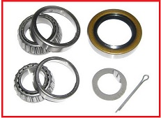 BEARING KIT, 14125A, 25580 BEARINGS, 10-10 DOUBLE LIP SEAL ID 2.125, 1 WHEEL
