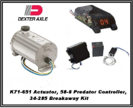 Dexter1600 PSI (Disc) K71-651 Electric/Hydraulic Actuator With BreakAway  34-285 & Controller 58-8... INCLUDES SHIPPING & Handling USPS