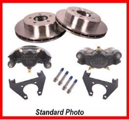 7K 865 Integral (1-piece) Hub/Rotor Disc Kit, 1 axle (machine)
