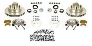 "2/HRCM-12KIT--- 12"" Disc Brake Set (For Use With 655 Hub) - 5,200-6,000 lbs., *  5-Bolt Brake Flange Required (SKU: 18-971-S CAD)"