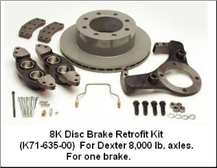 8K Disc Brake Kit (SKU: 27-589)