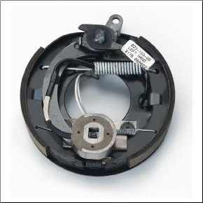 "Complete 7"" x 1-1/4"" electric brake with park assembly. LEFT  Hand (SKU: 023-103-00)"