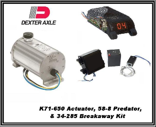 Dexter1000 PSI (Drum) K71-650 Electric/Hydraulic Actuator With BreakAway  34-285 & Controller 58-8... INCLUDES SHIPPING & Handling USPS (SKU: K71-650 /34-285/58-8 Kit-AU)