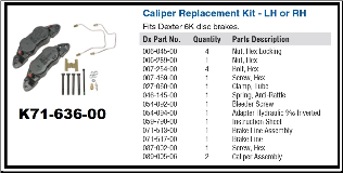 6K CALIPER ASSEMBLY w/ Bolts (SKU: K71-636-00 / 6450046)