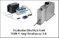 Carlisle Hydrastar-1000 Elec/Hydraulic - Drum Brake With 9Amp/Hr Dexter Breakaway Kit .. INCLUDES SHIPPING & Handling USPS (SKU: 21-350-AU-Kit)