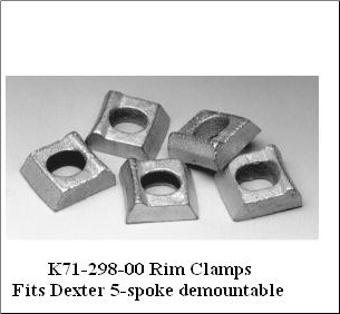 "Rim Clamp 15-12 (Non Plated) 1/2"" BOLT HOLE FREE DELIVERY LOWER 48* (SKU: 27-024)"
