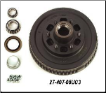 "D44 Hub Kit 10"" Brake with 6 on 5.5"" Bolt Pattern (SKU: 27-08-407-05UC3)"