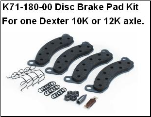 10K-12K Disc Brake Pad Kit 71-180 /  TN6450109 / (SKU: 27-414)