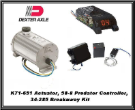 Dexter1600 PSI (Disc) K71-651 Electric/Hydraulic Actuator With BreakAway  34-285 & Controller 58-8... INCLUDES SHIPPING & Handling USPS (SKU: K71-651 /34-285/58-8 Kit-AU)