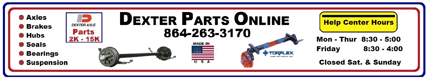 Dexter Parts Online, Dexter Axle Parts, Dexter Repair Parts, Brakes